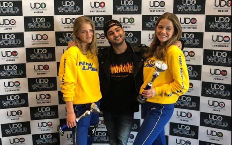 Talli und Lisa UDO 2019 4. Platz Duo under 16 Advanced